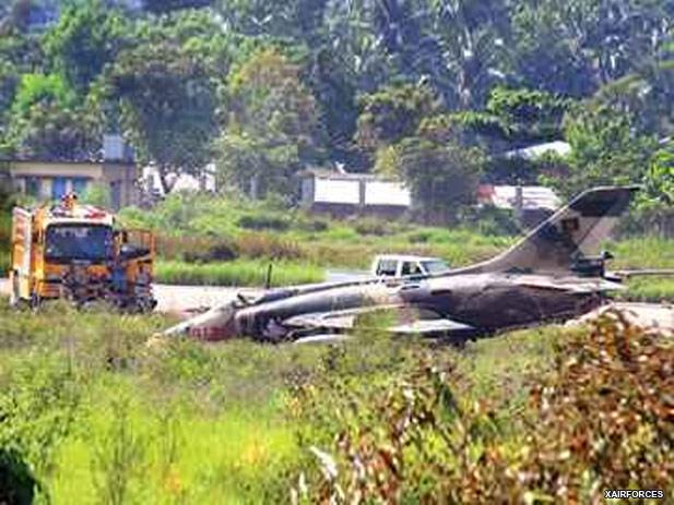 Bangladesh A 5C Q 5III Fantan Aircraft Crash Lands In Chittagong